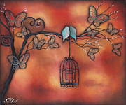 Abril Andrade Griffith Art - Together in Fall by  Abril Andrade Griffith