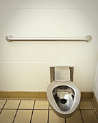 Toilet In A Public Restroom Print by Thom Gourley/Flatbread Images, LLC