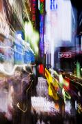 Energetic Acrylic Prints - Tokyo Color Blurs Acrylic Print by Bill Brennan - Printscapes