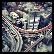 Tokyo Highway Print by Frank Lee
