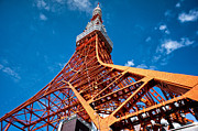 Communications Tower Prints - Tokyo Tower Print by Alan Nee