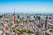 Communications Tower Prints - Tokyo Tower From Roppongi Hills Print by Daniel Shi