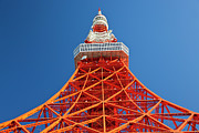 Communications Tower Prints - Tokyo Tower, Tokyo, Japan Print by Peter Adams