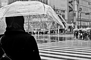 Umbrella Framed Prints - Tokyo Under Snow Framed Print by Julie Nassiet