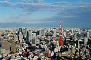 Exterior Framed Prints - Tokyo View At Daylight Framed Print by Vladimir Zakharov