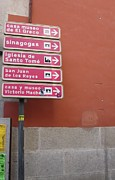 Spanish Synagogue Photos - Toledo Street Sign by John A Shiron