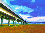 Florida Bridge Mixed Media - Toll Road by Dominic Piperata