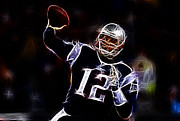 Football Player Posters - Tom Brady - New England Patriots Poster by Paul Ward