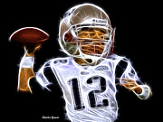 Passing Digital Art - Tom Brady by Stephen Younts
