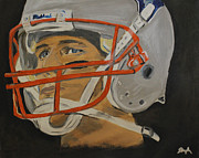 Football Paintings - Tom Brady by Steven Dopka