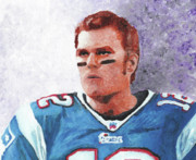 Patriots Painting Posters - Tom Brady Poster by William Bowers