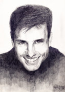 Actor Drawings Posters - Tom Cruise Poster by Debbie McIntyre