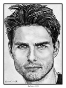 Greyscale Drawings - Tom Cruise in 1999 by J McCombie