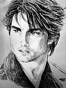 Real Drawings - Tom Cruise by Jennifer Bryant