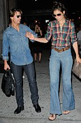 Casual Blue Jeans Prints - Tom Cruise, Katie Holmes, Enter Print by Everett