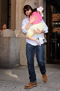 Celebrity Candids - Monday Framed Prints - Tom Cruise, Suri Cruise, Leave Framed Print by Everett