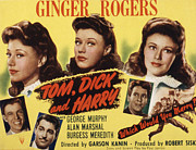 Meredith Framed Prints - Tom Dick And Harry, Ginger Rogers Framed Print by Everett