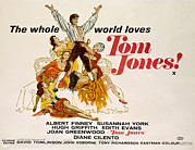 1963 Movies Prints - Tom Jones, Albert Finney, 1963 Print by Everett