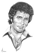People Drawings Originals - Tom Jones by Murphy Elliott