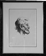 Original Lithographs Drawings - Tom Keefer F.51 by Thomas Hart Benton