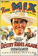 Movie Art Paintings - Tom Mix Movie Poster by Reproduction