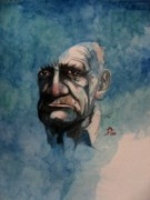 Watercolour Portrait Prints - Tom Print by Ray Agius