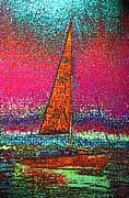 First Star Art Prints - Tom Rays Sailboat 3 Print by First Star Art