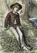 Tom Boy Framed Prints - Tom Sawyer, 1876 Framed Print by Granger