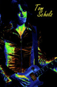 Boston Digital Art Metal Prints - Tom Scholz of Boston 2 Metal Print by Ben Upham