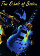 Boston Digital Art Metal Prints - Tom Scholz of Boston Metal Print by Ben Upham