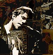 Abstract Music Digital Art - Tom Waits by Jeff DOttavio