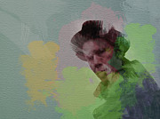 Singer Painting Prints - Tom Waits Print by Irina  March