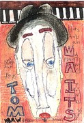 Modernism Mixed Media Posters - Tom Waits Poster by Robert Wolverton Jr
