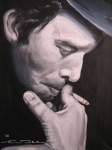 Celebrity Portraits Framed Prints - Tom Waits Two Framed Print by Eric Dee