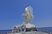 21st Century Photo Prints - Tomahawk Cruise Missile Launched Print by Everett