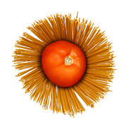 Noodles Photo Prints - Tomato and pasta Print by Blink Images