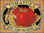 Label Prints - Tomato Can Label Print by Granger