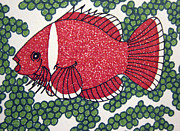 Tomato Drawings - Tomato Clownfish by Daniel Goodwin