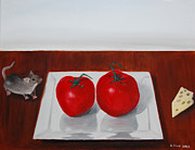 Vegetables Paintings - Tomato Mountain by John Small