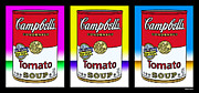 Cans Digital Art Prints - Tomato Soup Print by Stephen Younts