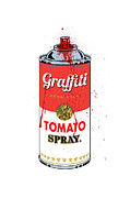 High Resolution Prints - Tomato Spray Can Print by Gary Grayson