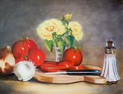 Meal Paintings - Tomato Still Life by Joni McPherson