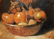 Assorted Painting Framed Prints - Tomatoes in a Copper Bowl Framed Print by David Simons