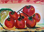 Tomatoes Mixed Media Prints - Tomatoes Seven Print by Mary Carol Williams