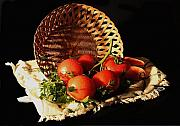 Parsley Prints - Tomatos. Out of Basket. Print by Viktor Savchenko
