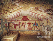 Etruscan Prints - Tomb Of Francesca Giustiniani Print by Photo Researchers