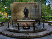 Independence Park Framed Prints - Tomb of the Unknown Revolutionary War Soldier II - George Washington  Framed Print by Lee Dos Santos