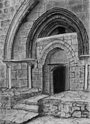 Tomb Drawings Metal Prints - Tomb of Virgin Mary Metal Print by Marwan Hasna - Art Beat