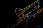 Trombone Digital Art - Tombone II by Bill