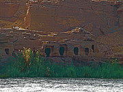 Tombs Digital Art - Tombs along the Nile River between Edfu and Kom Ombu by Ruth Hager